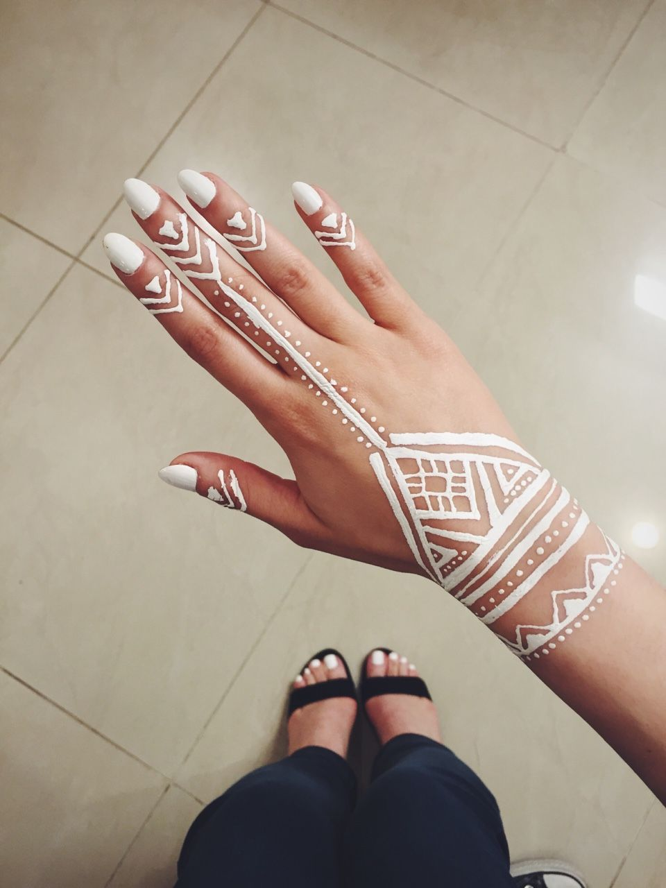 My First Experience With White Henna Metallic Tattoos