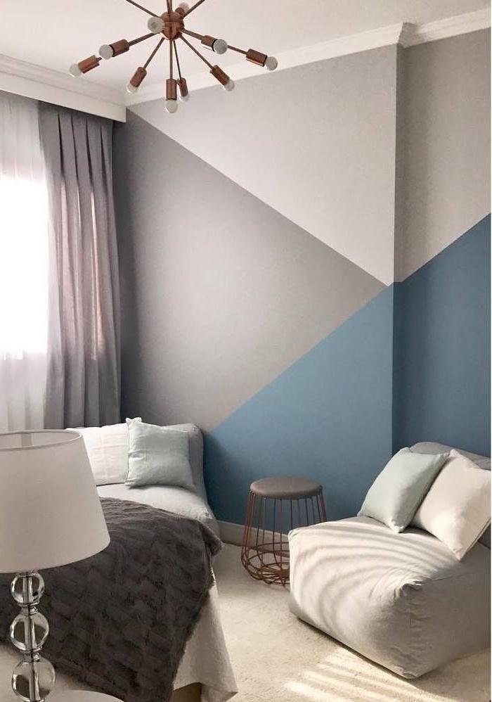 Conceptions A La Mode Avec Des Details Geometriques Pour Une Maison Moderne Deco Chambre Ikea Peinture Interieur Maison Deco Maison