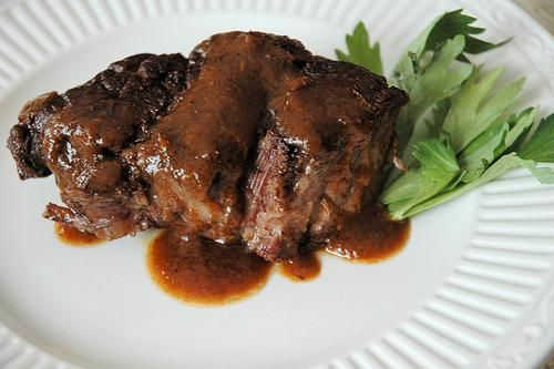 easy crock pot - roast beef au jus
