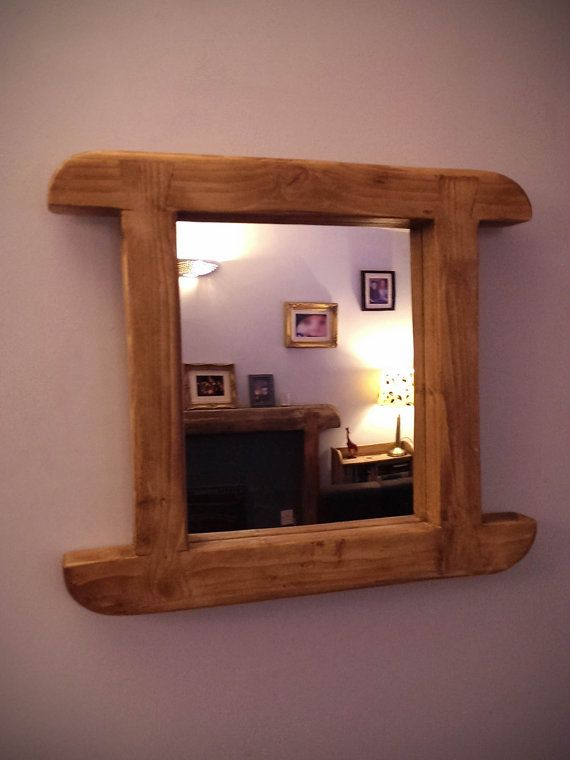 Handcrafted Rustic Horned Dovetail Mirror In By MarcWoodJoinery, £45.00  Reclaimed Wood, Bedroom,