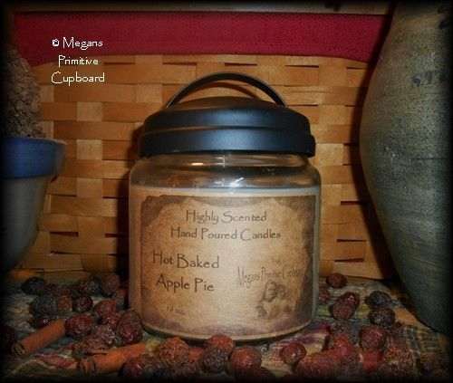 LILAC Jar Candle Primitive Antiqued Country Home Scented Made in USA