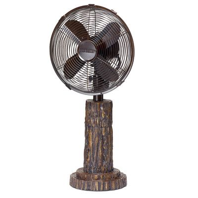Deco Breeze Fir Bark Oscillating Table Fan