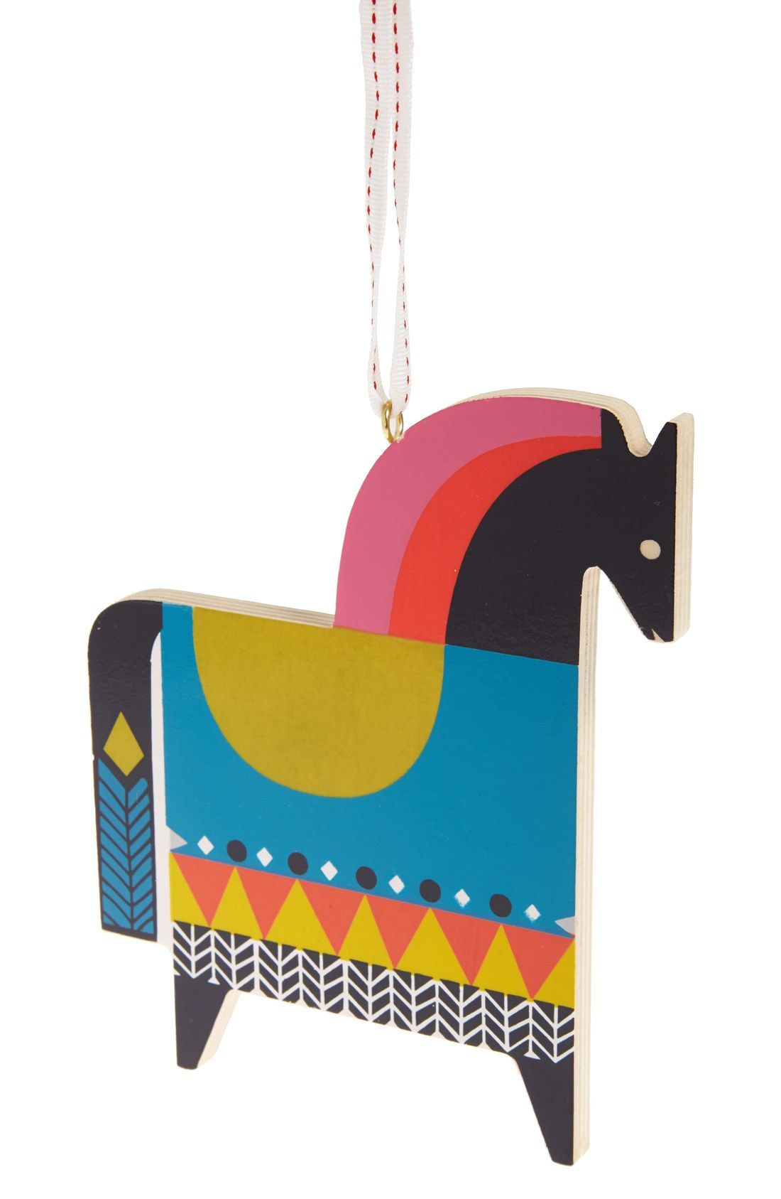 Nordstrom at Home Wooden Horse Ornament | cool yule | Pinterest ...
