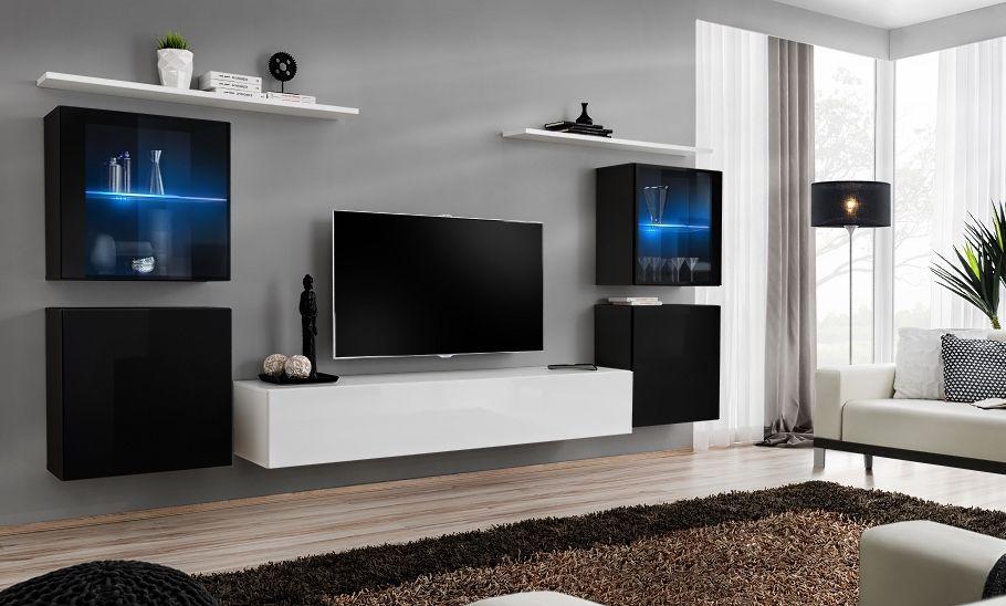 Shift 14 - modern tv wall unit   Modern wall units, Living room wall ...