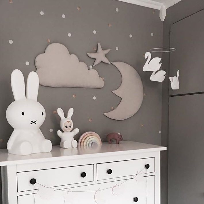 Cloud, Moon and Star Wall Decoration in Mint by Cam Cam ...