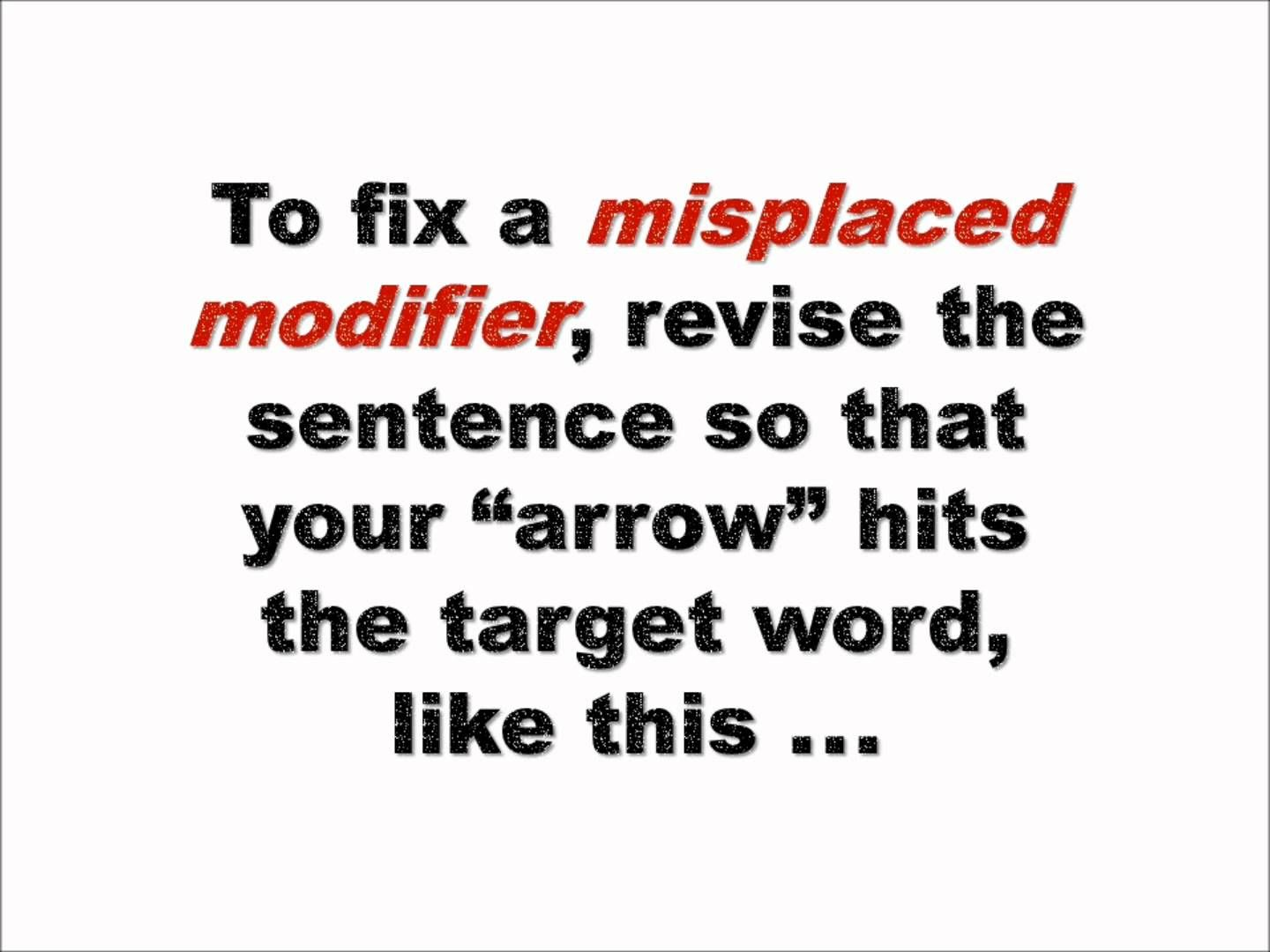 Grammar Bytes Presents Finding And Fixing Misplaced