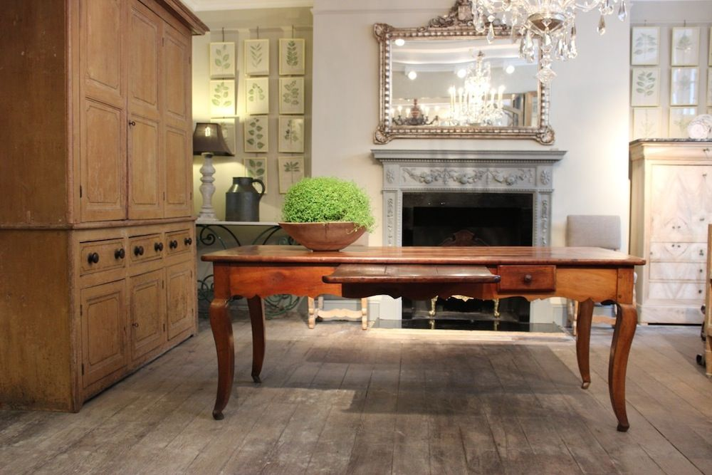 Wonderful 19th cent French Fruitwood Serving Table