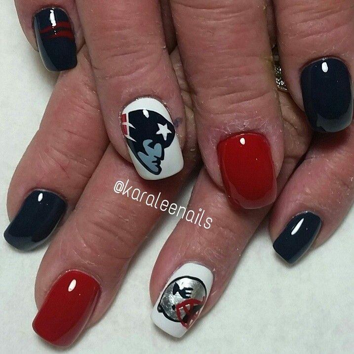 New England patriot nails by me   Karaleenails   Pinterest   England ...