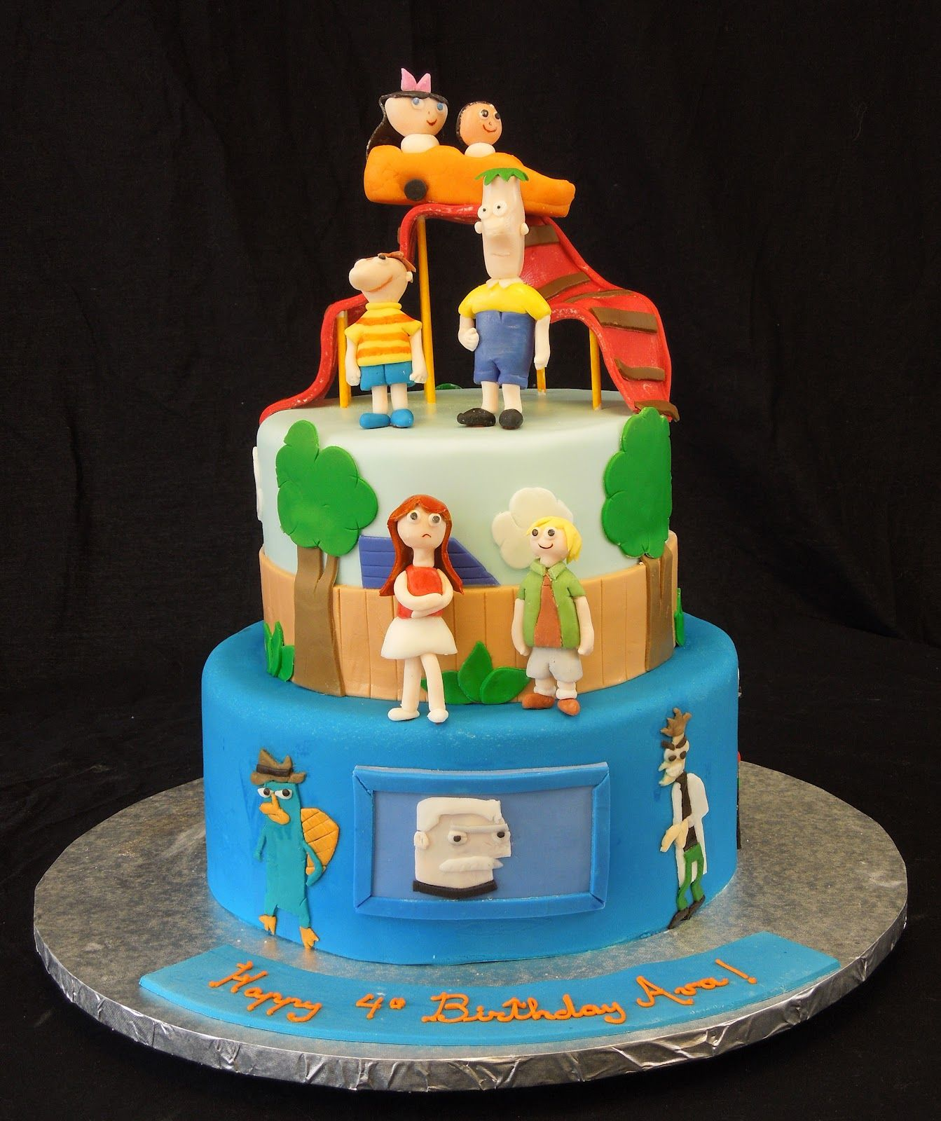 B-day cake idea for my phineas and ferb obsessed kids ...