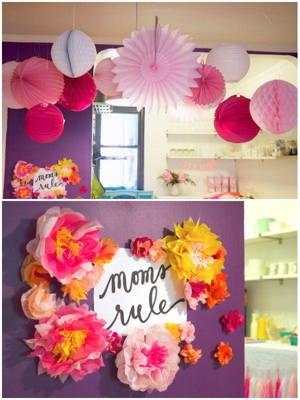 Pink Paper Lanterns Honeycombs Paper Flowers Jpg Jpg 600 800