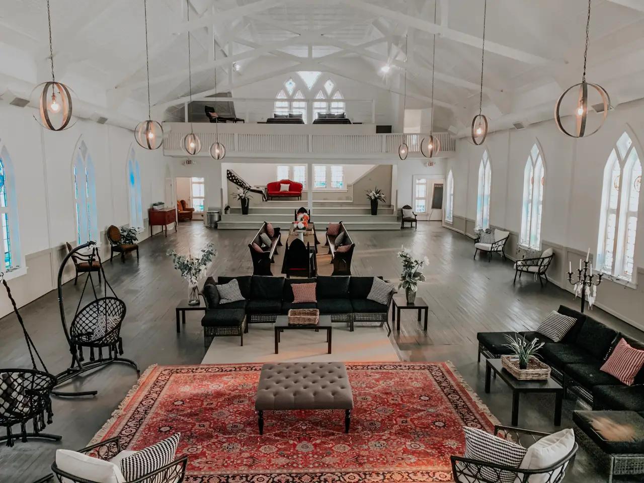 White Bohemian Church Atlanta Sleeps 20+ 9000sf Houses