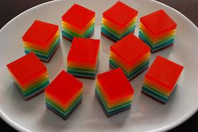 craftyc0rn3r: Rainbow Layered Jello
