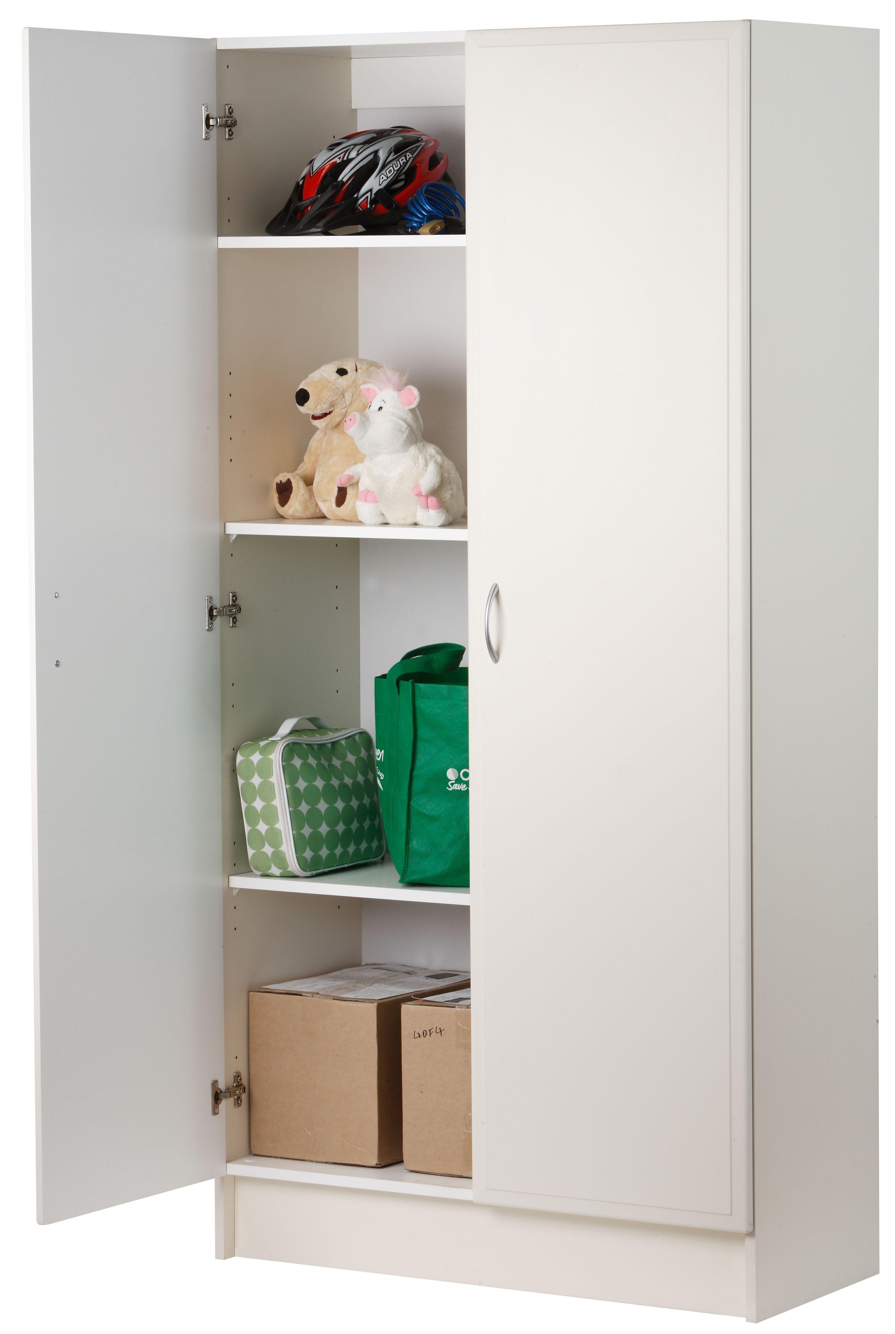 Best Bedford 900Mm White 2 Door Pantry Bunnings Warehouse 400 x 300