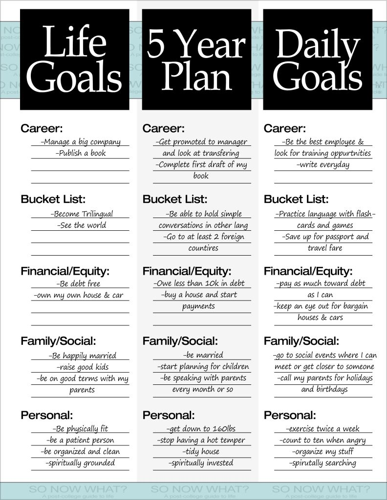 Career Goal Statement Best The 3 Steps To A 5 Year Plan  Daily Goals Goal And Journal