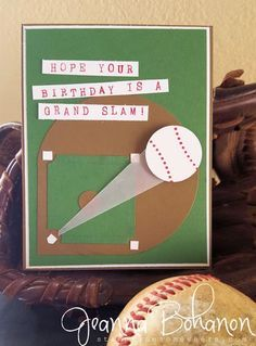 tgifc51 Baseball birthday card Jeanna Bohanon card making