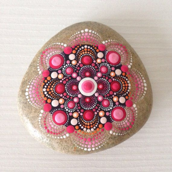 NOT FOR SALE Reserved for Mia Big Red Dot Art Mandala