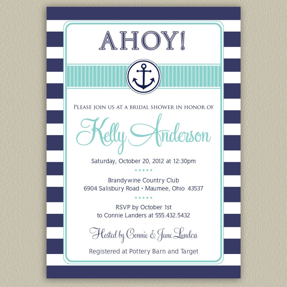 kindred nautical boy preview product shower invitations invitation creations baby