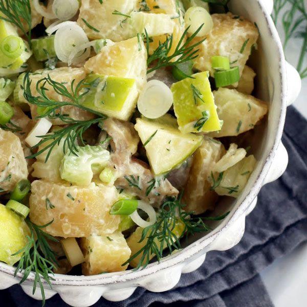 Fresh and Light Swedish Potato and Apple Salad Recipe