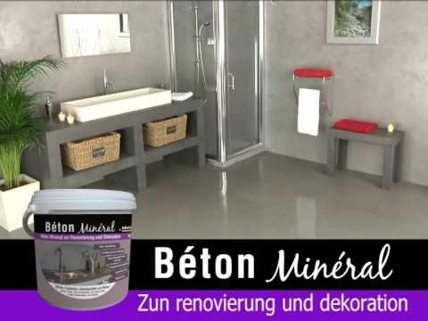 Beton Mineral beton mineral und mineral beschichtung (von résinence) - youtube