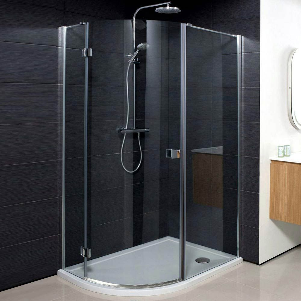 Crosswater Design Offset Quadrant Single Hinged Door Shower Enclosure Various Size Options At Victorian Plumbing Uk Quadrant Shower Luxury Bathroom Shower Cubicles
