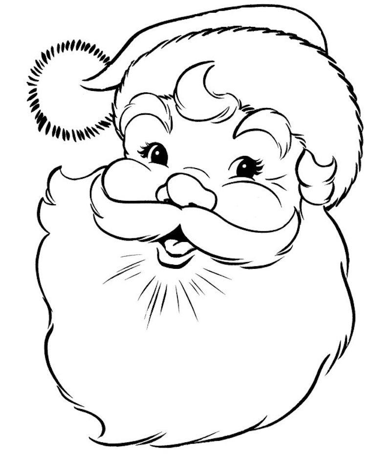 1001 Idees Coloriage De Noel Pour Des Fetes Pleines De Couleurs Coloriage Noel Image Noel Tete De Pere Noel