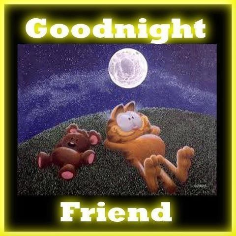 Good Night Friend Quotes Quote Night Garfield Goodnight Good Night Goodnight Quotes Good Nite Goodnight Q Good Night Friends Garfield Cartoon Garfield Pictures