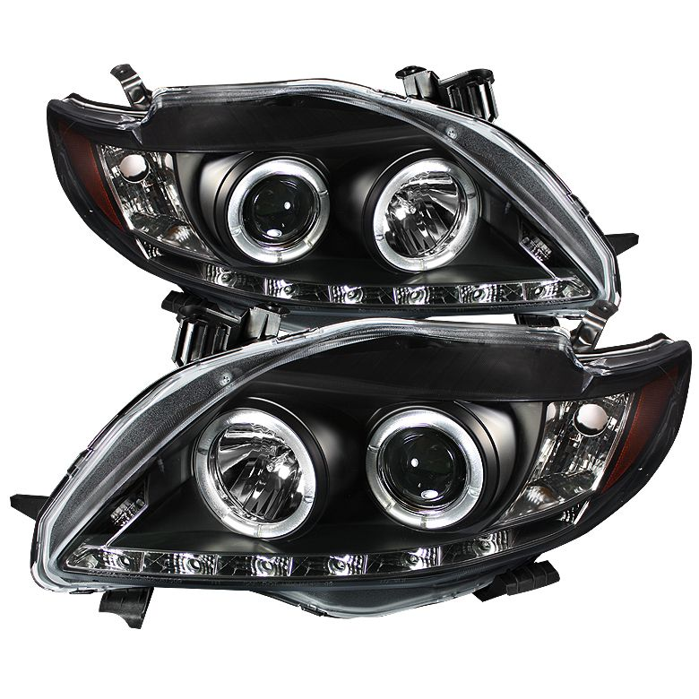 Passenger Right Side Replacement Pair Set XRS Black Headlights Driver Left For Toyota Corolla S