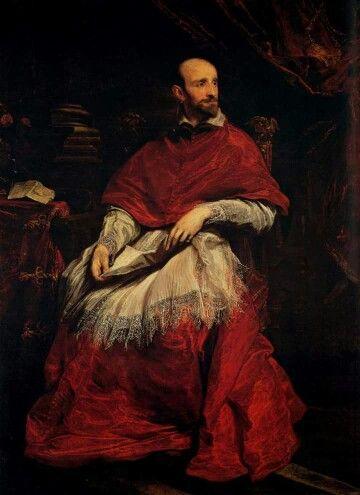 Ritratto del cardinale Guido Bentivoglio Antoon van Dyck Olio su tela, 1623 Galleria Palatina, Firenze  Portrait of cardinal Guido Bentivoglio Antoon van Dyck Oil on canvas, 1623 Galleria Palatina, Florence