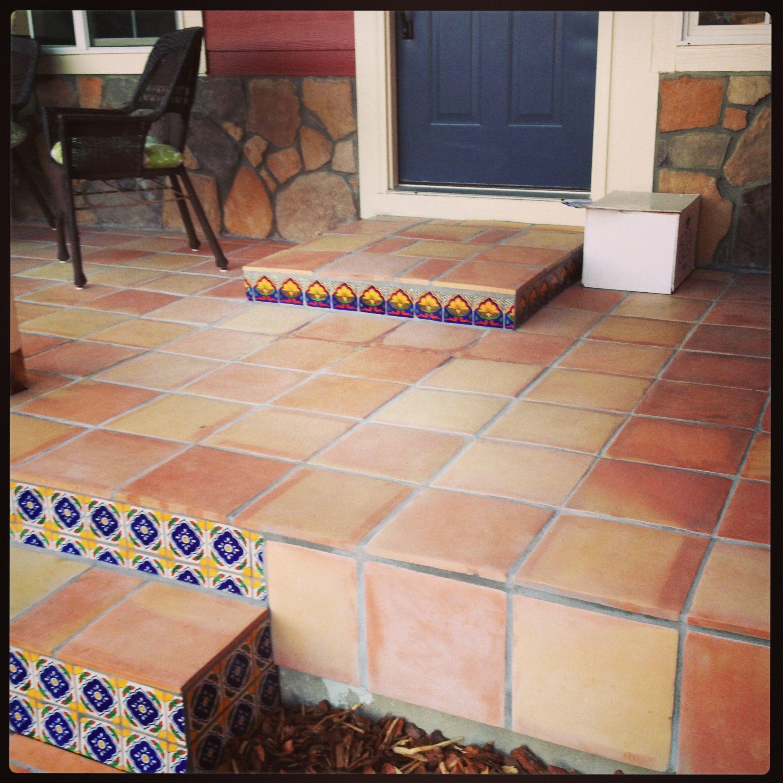Kitchen Tiles Kenya: Saltillo Tiled Porch With Deco Tiles