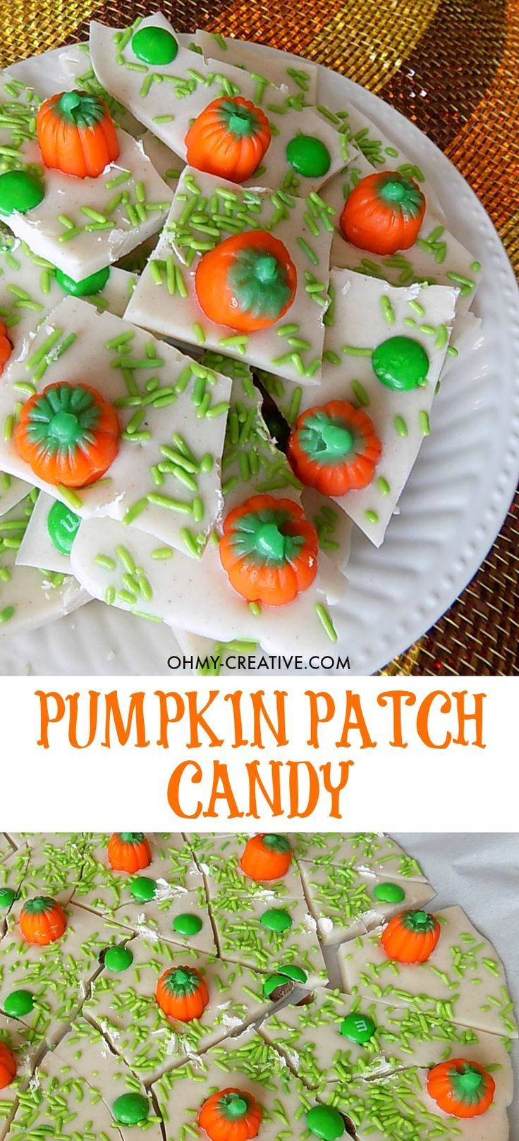 Pumpkin Patch Candy Bark Recipe Oh My Creative Recipe