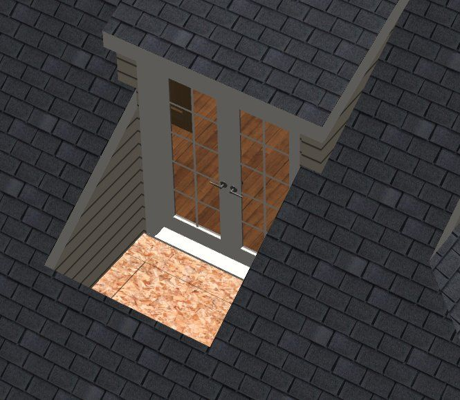 Inset Dormer Unlike Most Dormers Which Extend Out From