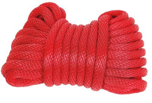 Koch 5091615 Solid Braid Polypropylene Rope 1 2 By 35 Feet Red By Koch 14 78 From The Manufacturer Colored Rope Home Hardware Synthetic Rope