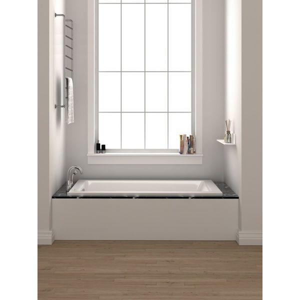 Fine Fixtures 36-inch x 72 inch Soaking Drop In or Alcove Bathtub ...
