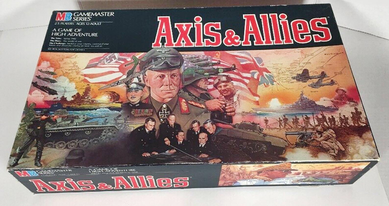 Vintage (1987) Axis & Allies Milton Bradley Strategy War