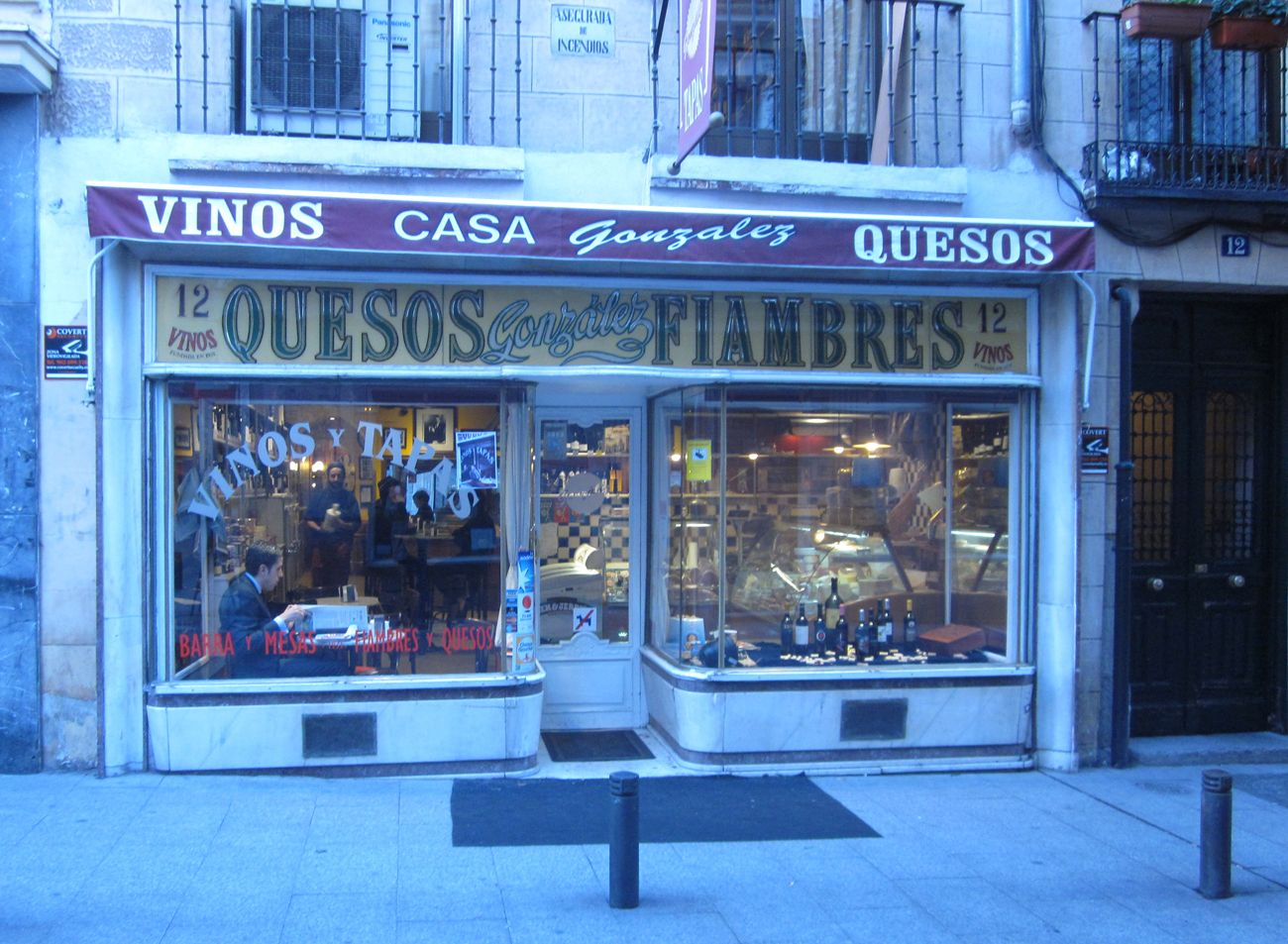 Casa González Vinos Y Quesos Madrid Shop Fronts Liquor Cabinet Model Railroad