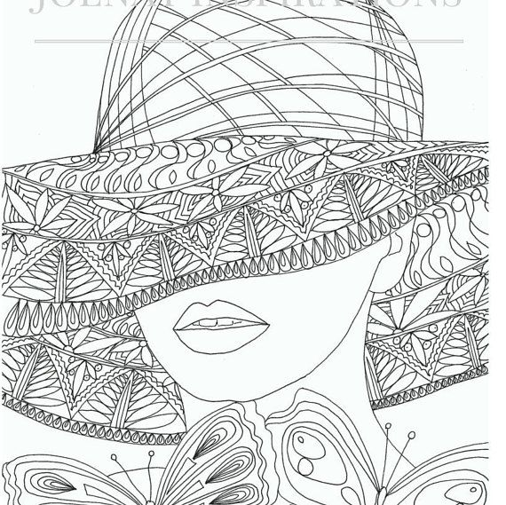 Adult Coloring Book Printable Pages For Adults Instant Download Faces Of The World 2 Page 6