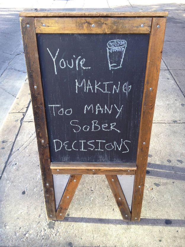 31 Bar  Coffee Shop Sidewalk Signs! Finally people that share my love for chalkboard sidewalk signs!!