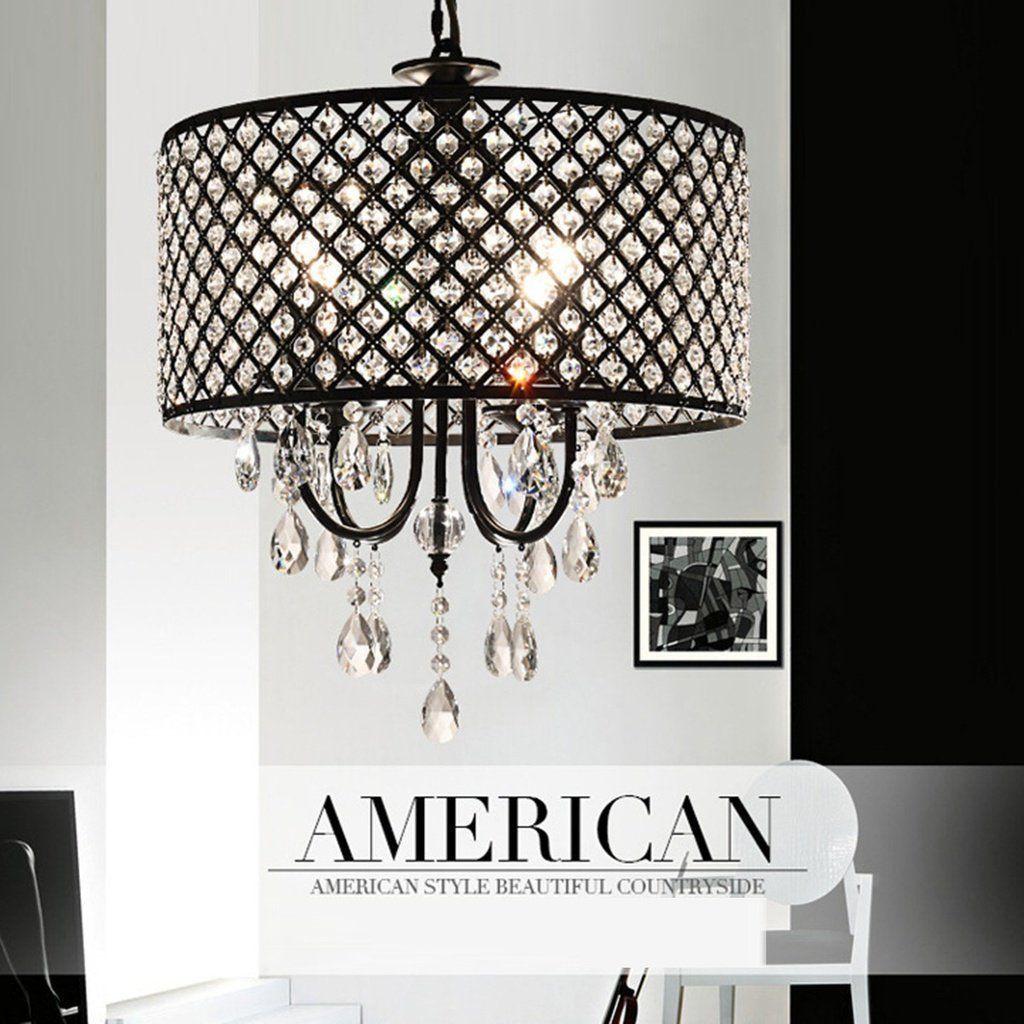 Modern Crystal Chandelier Ceiling Lights Pendant Fixture Drum Lamp Shade Decor Lampshadeideasrepurpos Antique Lamp Shades Pendant Lamp Shade Small Lamp Shades