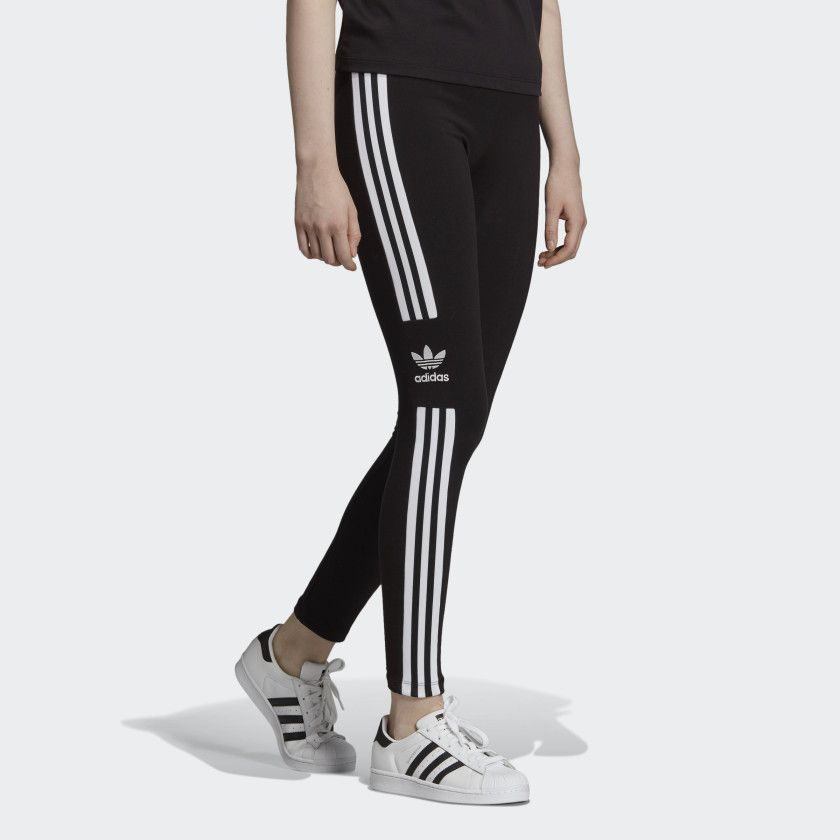 eba2a93284c Trefoil Tights Black DV2636 Legging, Black Adidas, Black Tights, Adidas  Logo, Adidas