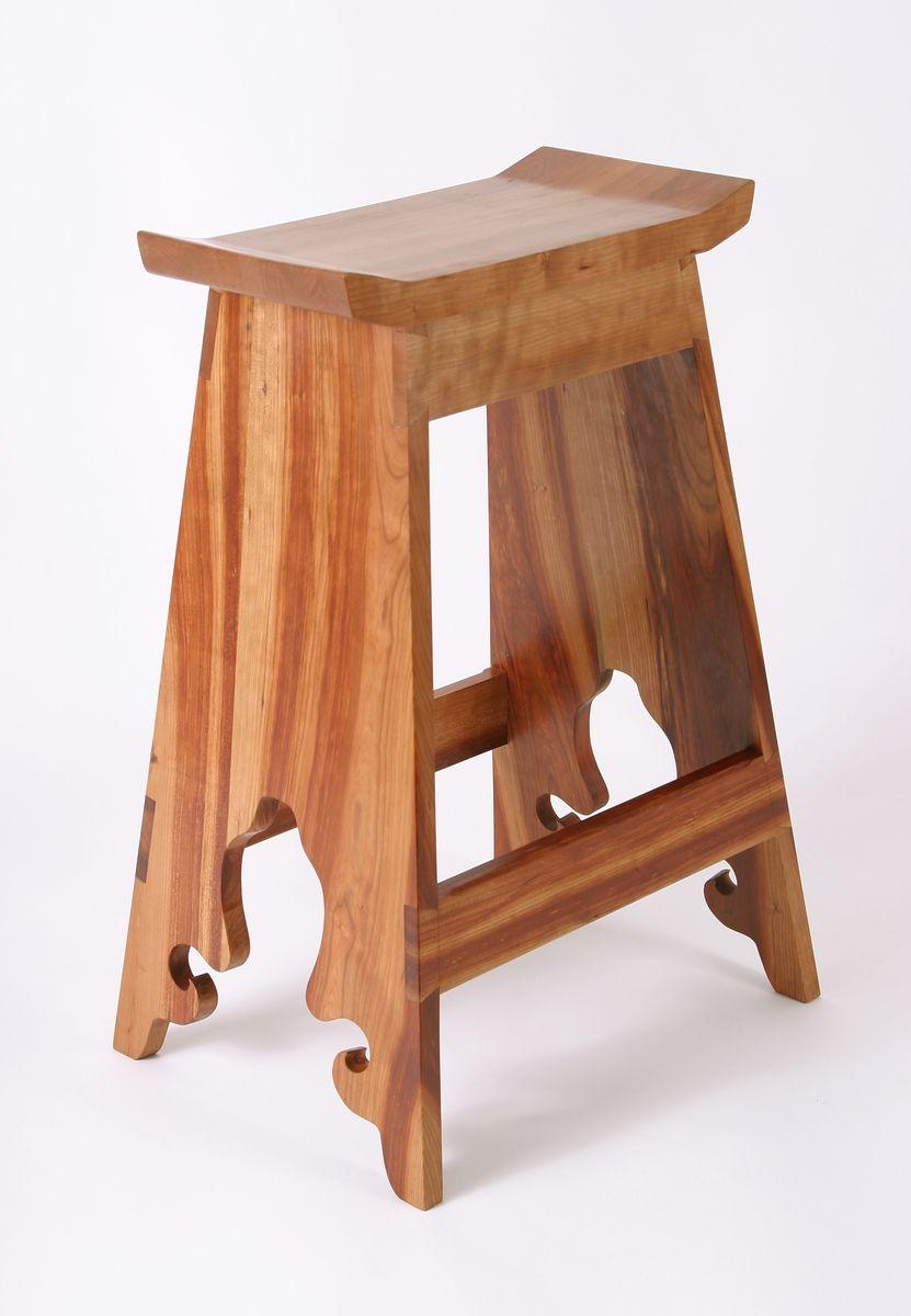 Custom Made Custom Japanese Cherry Saddle Stools Custommade Com