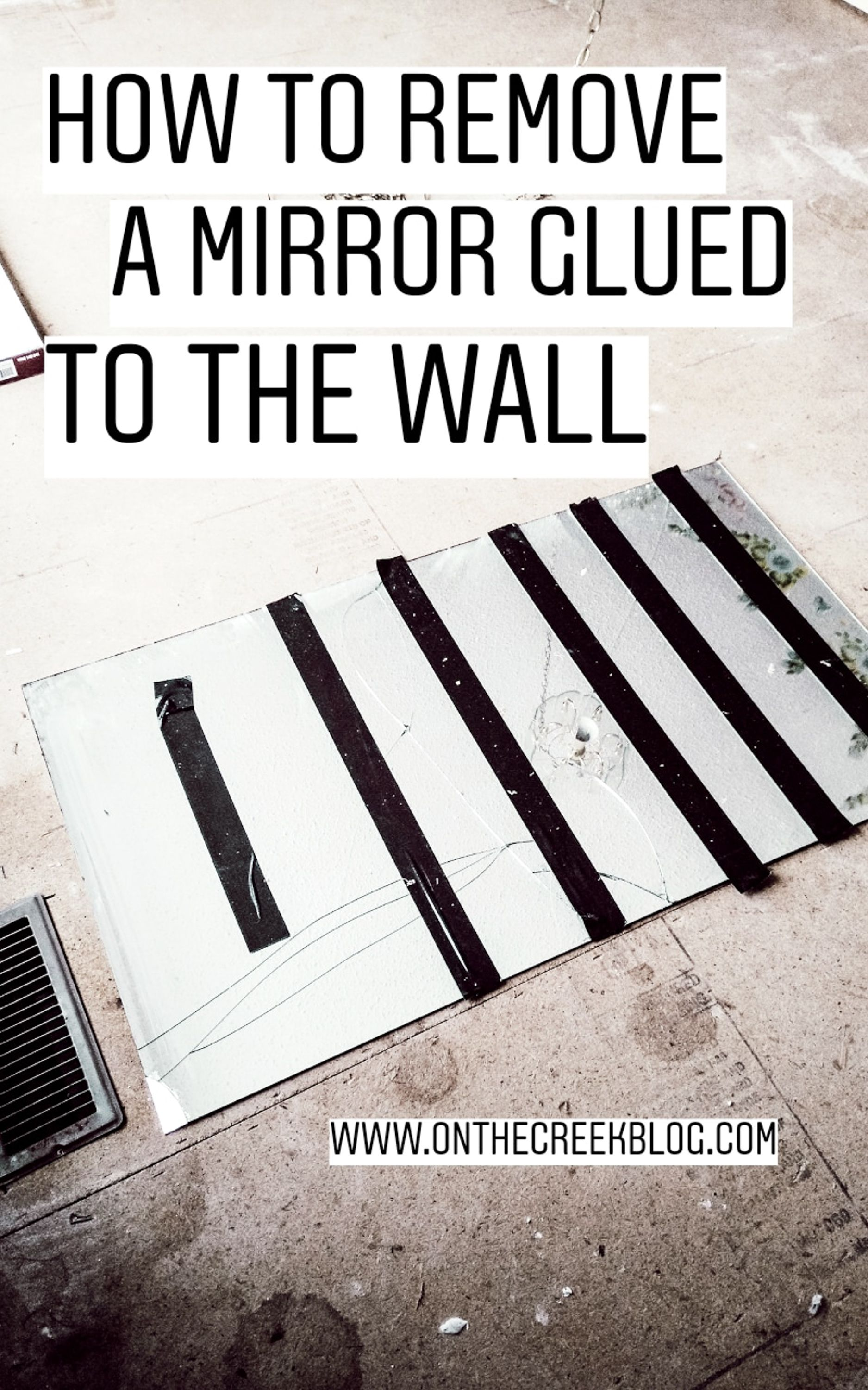 How to remove a mirror glued to the wall mirror glue