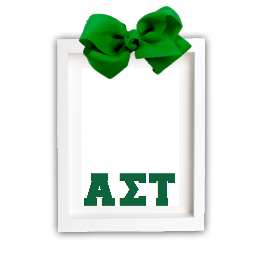 Alpha Sigma Tau Picture Frame Block Greek Letters