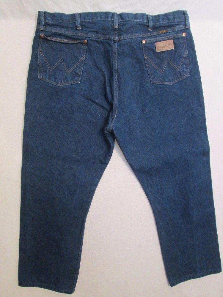 f7b9a28d Wrangler Jeans Dark Men's Size 42X32 Measures Hemmed To 42X28 #997  #Wrangler #Dark