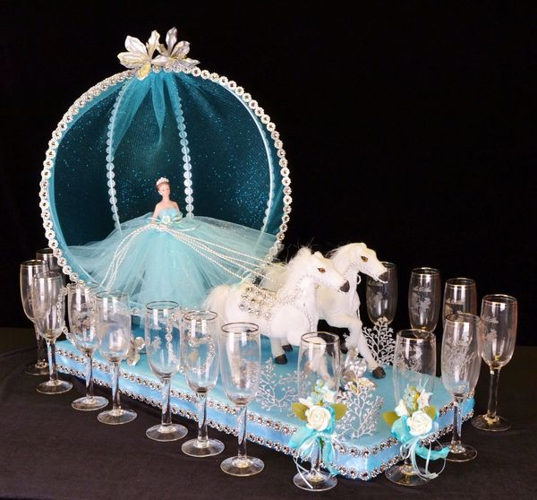 21 Cinderella Toasting Sets TS44 Quinceanera party Celebrations