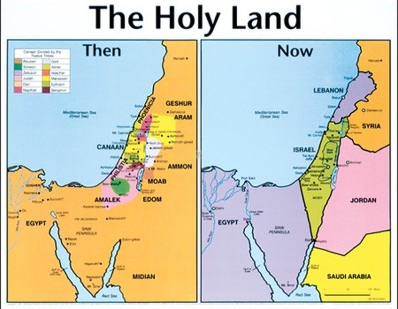 Holy Land Then and Now Map | Biblical References | Bible ... Life Size Wall Map Of Ancient Bible Lands on