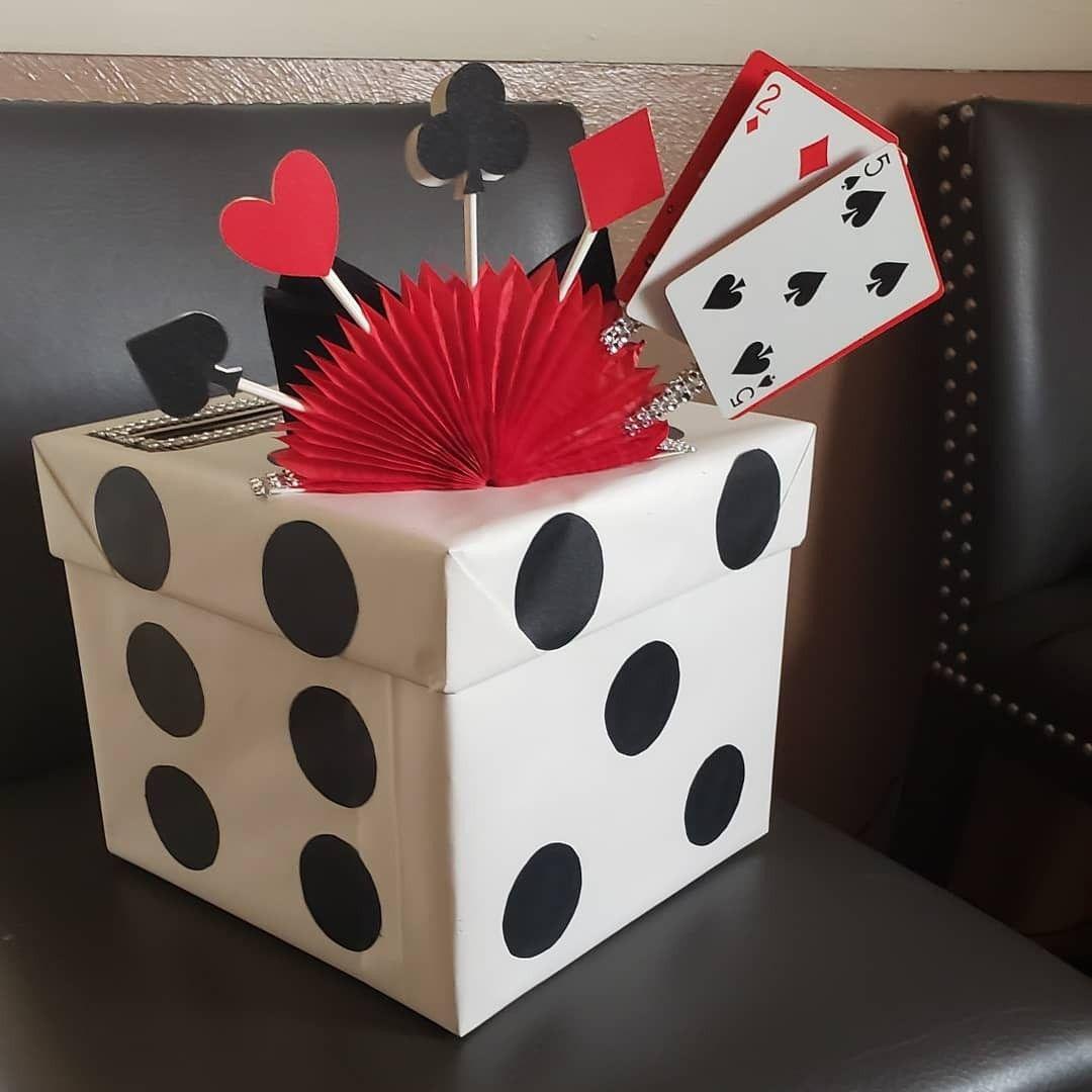 Casino dice card box 25th birthday party 25th birthday