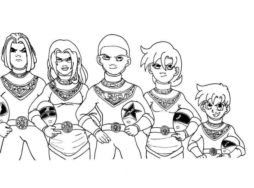 team power rangers zeo coloring page for kids - Pink Power Rangers Coloring Pages