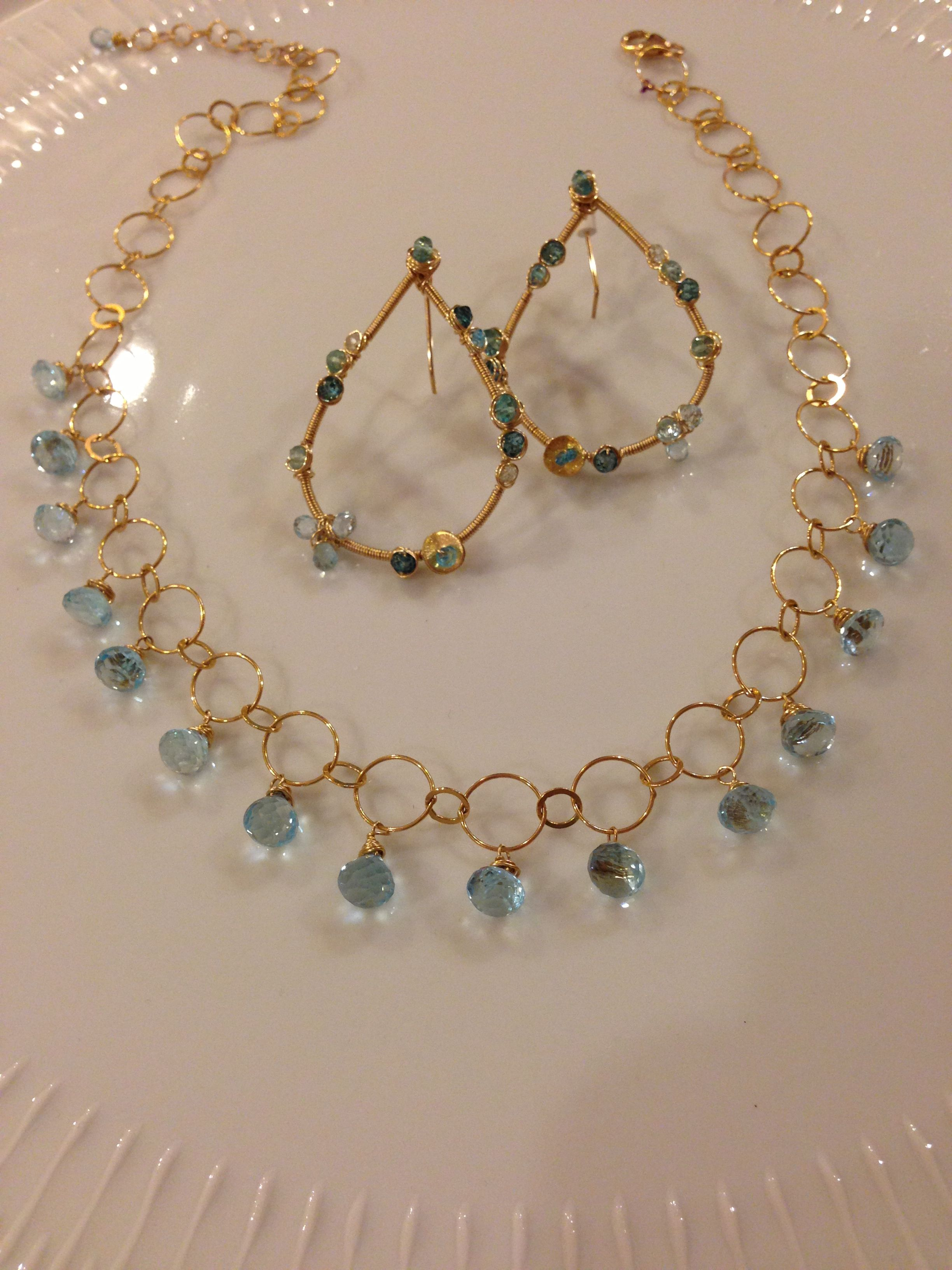 18++ Blue topaz and pearl jewelry ideas