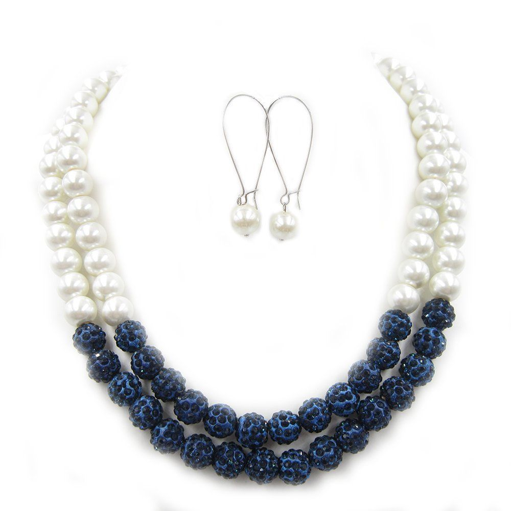 84b565dba5104 Navy Blue Necklace
