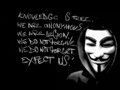 Anonymous Mask Wallpaper Knowledge is Free, We are